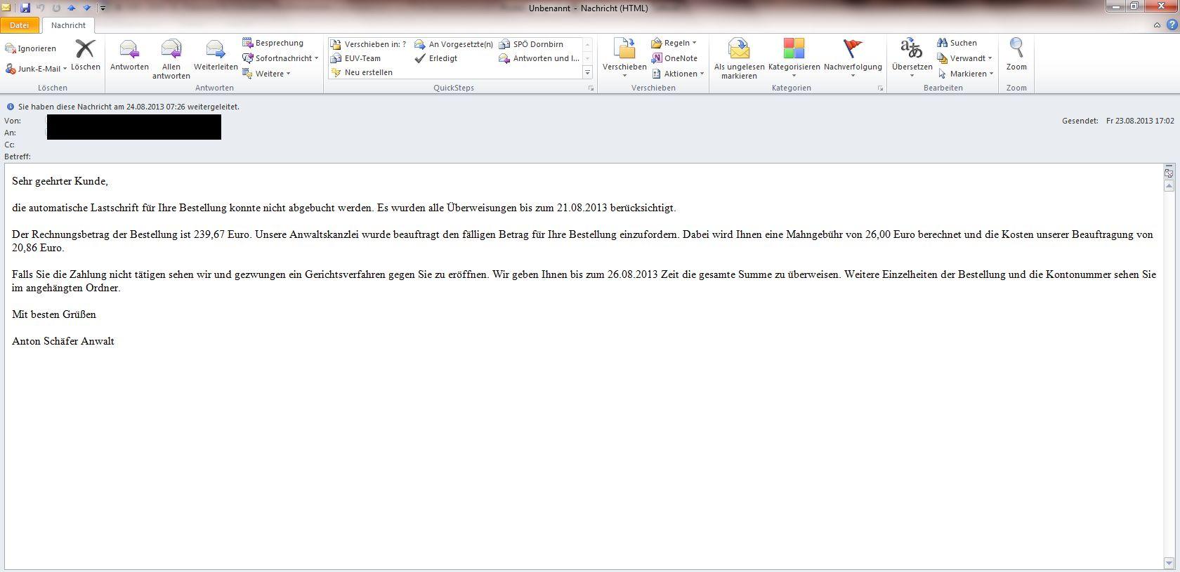 Atemberaubend überweisung Betrug E Mail Galerie - Elektrische ...